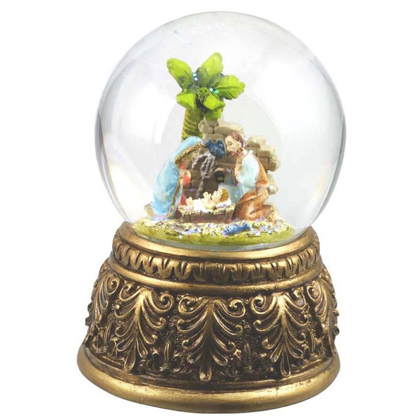 NATIVITY SCENE - MUSICAL SNOW GLOBE