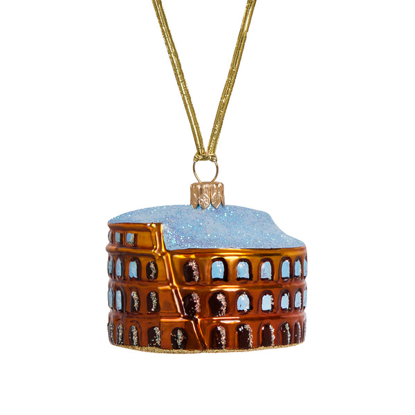 Colosseum christmas ornament in glass