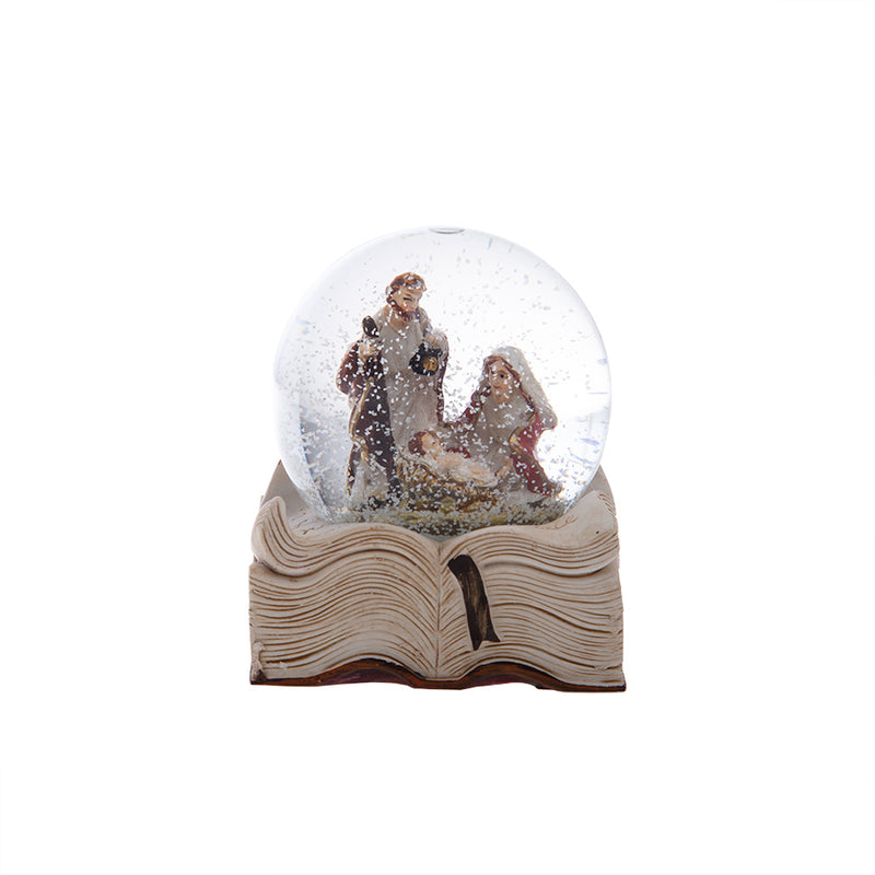 Snow globe with Nativity