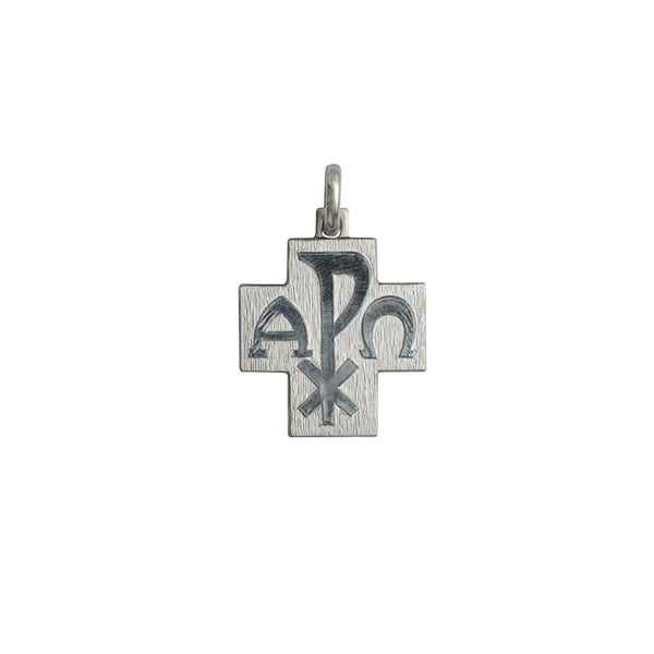 18 Kt White Gold Peace cross