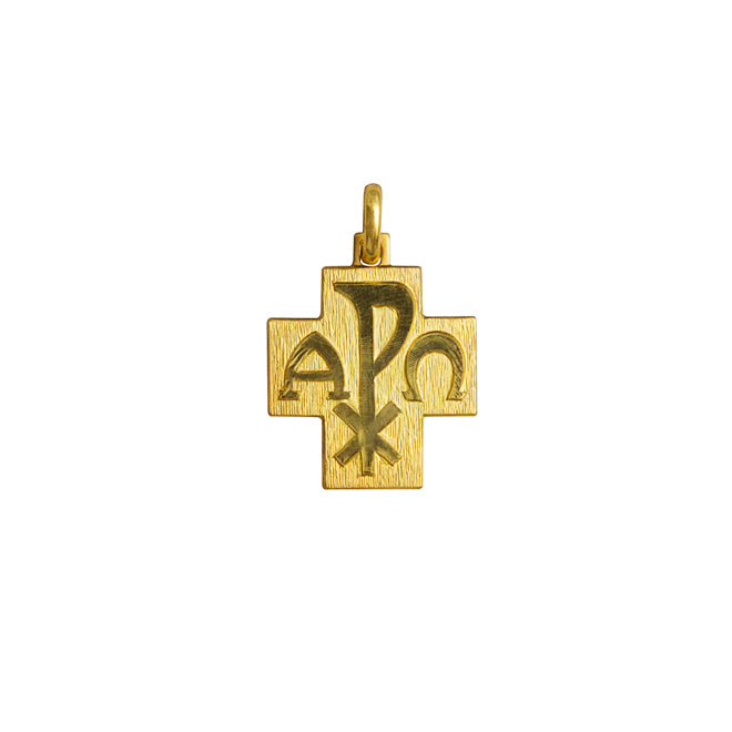 18 Kt Gold Peace cross