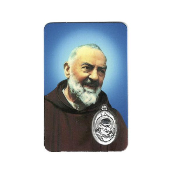 padre pio prayer card