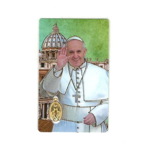 POPE FRANCIS - HOLY CARD