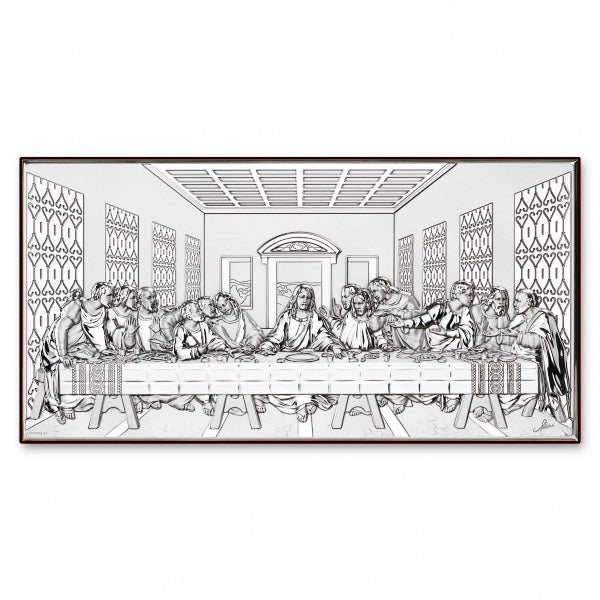 Last Supper picture silver