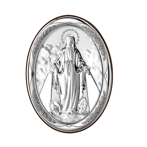 Miraculous Madonna sterling silver picture