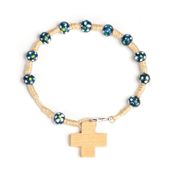 blue rosary bracelet for kids