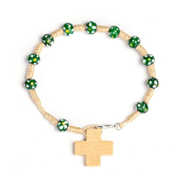 green rosary bracelet for kids