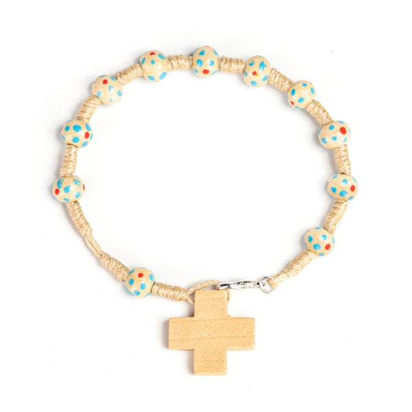 natural rosary bracelet for kids