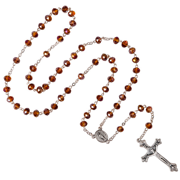Crystal metal rosary