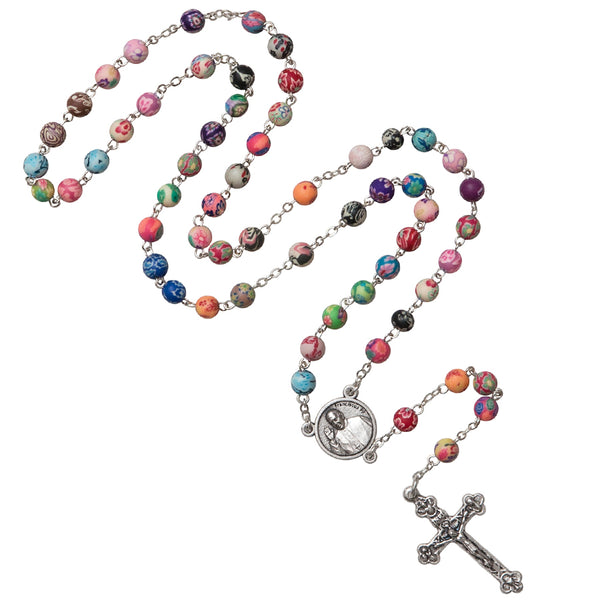 Pope Francis multicolored rosary