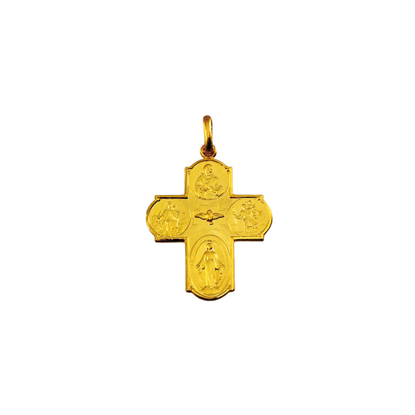 18k gold scapular cross