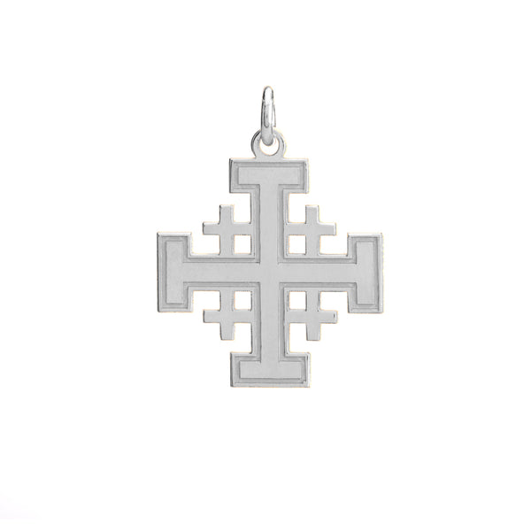 Jerusalem cross in sterling silver