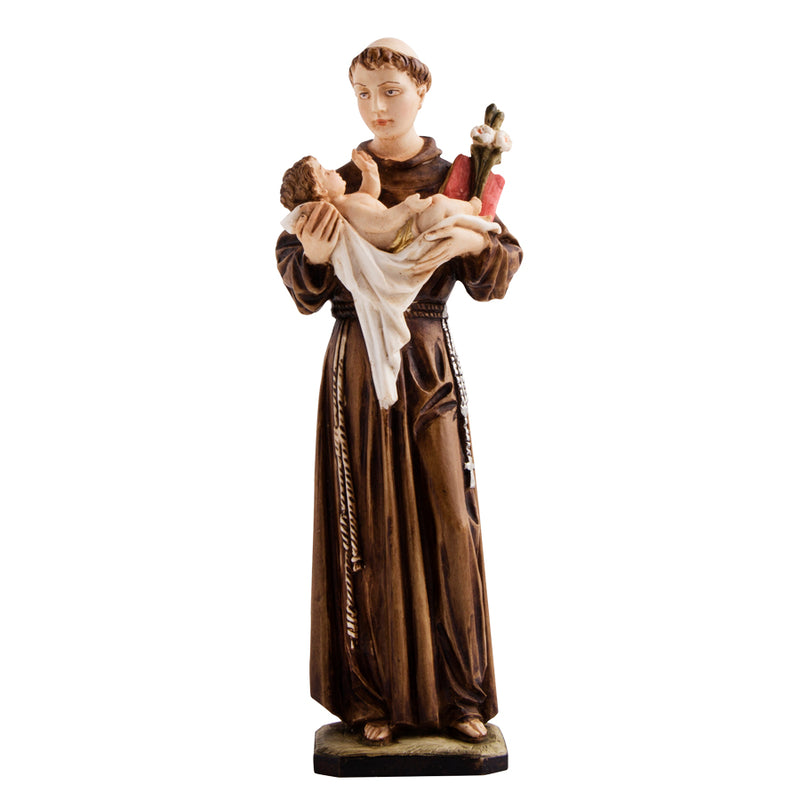 st anthony resin statue