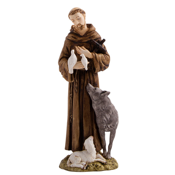 St Francis resin statue