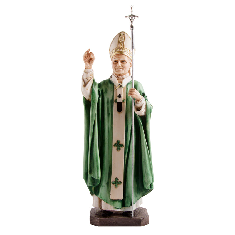 Pope John Paul II wood statue