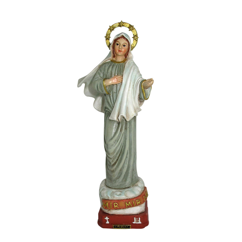 Our lady of medjugorje resin statue