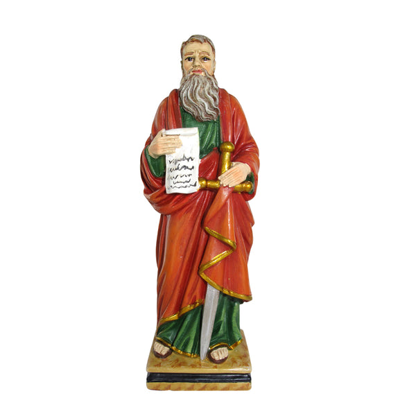 Saint Paul resin statue