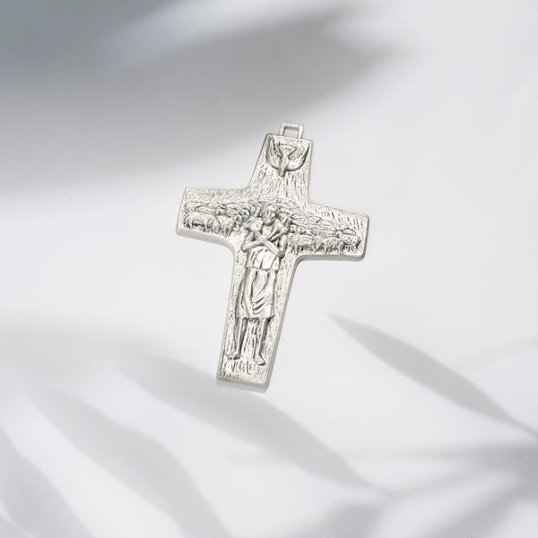 POPE FRANCIS - GOOD SHEPHERD CROSS - METAL