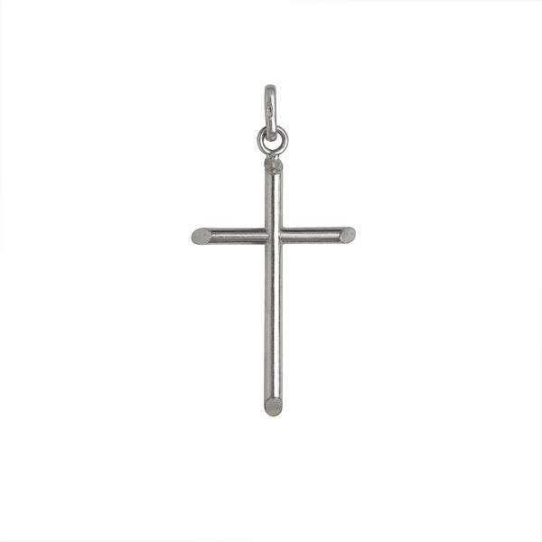 Classic cross pendant in sterling silver