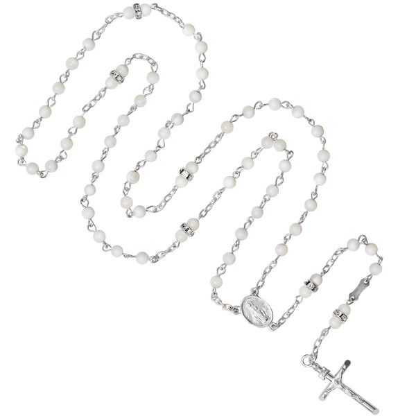 Mother of Pearl and Swarowski rosary