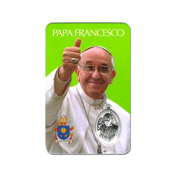 Pope Francis holy card