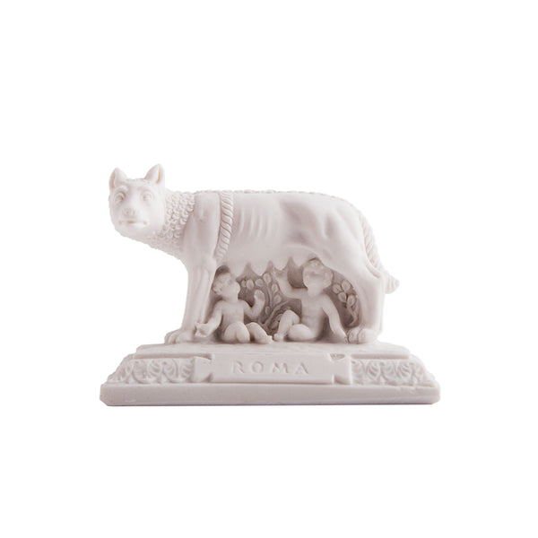 Capitoline wolf souvenir monument in marble