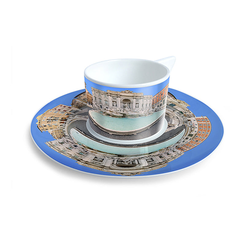 trevi fountain coffee set