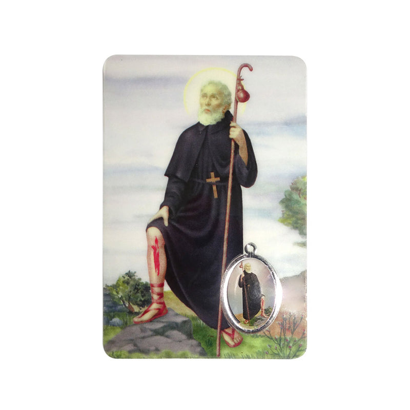 Saint Peregrine holy card