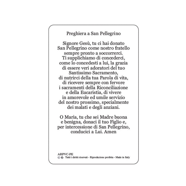 SAINT PEREGRINE - HOLY CARD