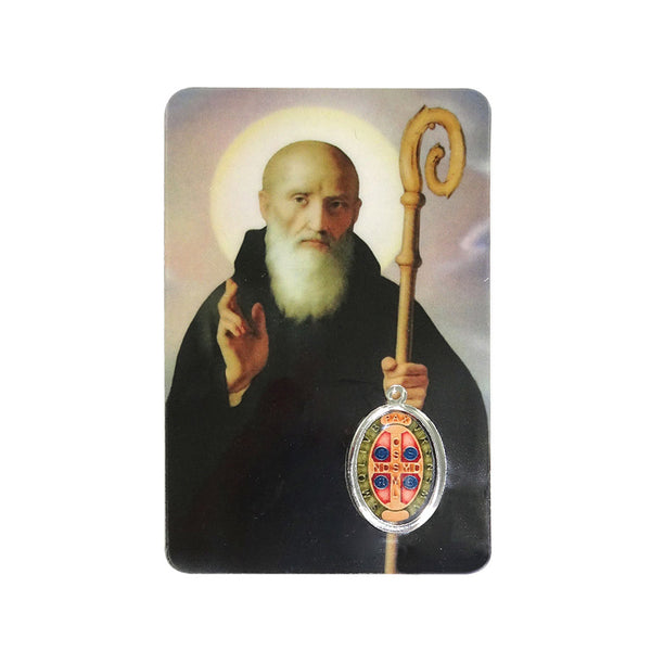 SAINT BENEDICT - HOLY CARD