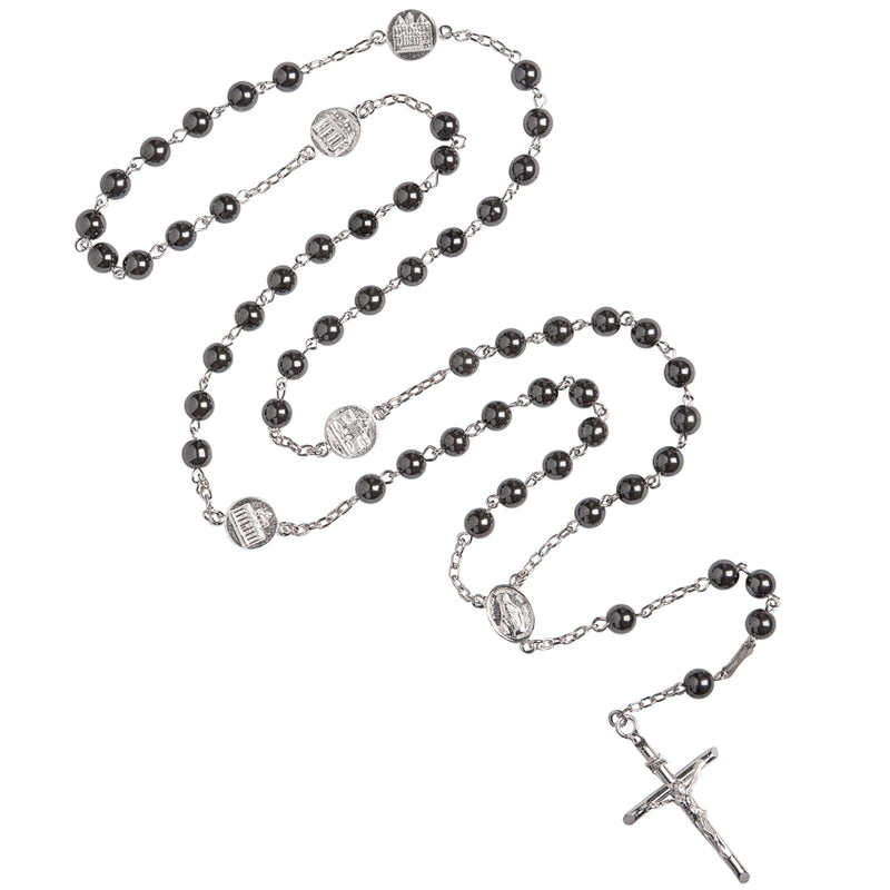 Hematite sterling silver rosary