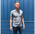 Gray V-Neck T-Shirt