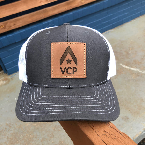 VCP Logo Leather Patch Hat (Grey)