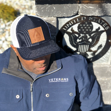 VCP Logo Leather Patch Hat (Navy)