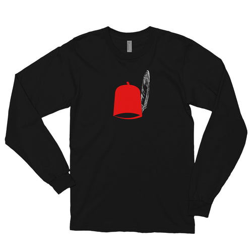 Red Igbo chieftaincy Ozo title cap - Long sleeve t-shirt