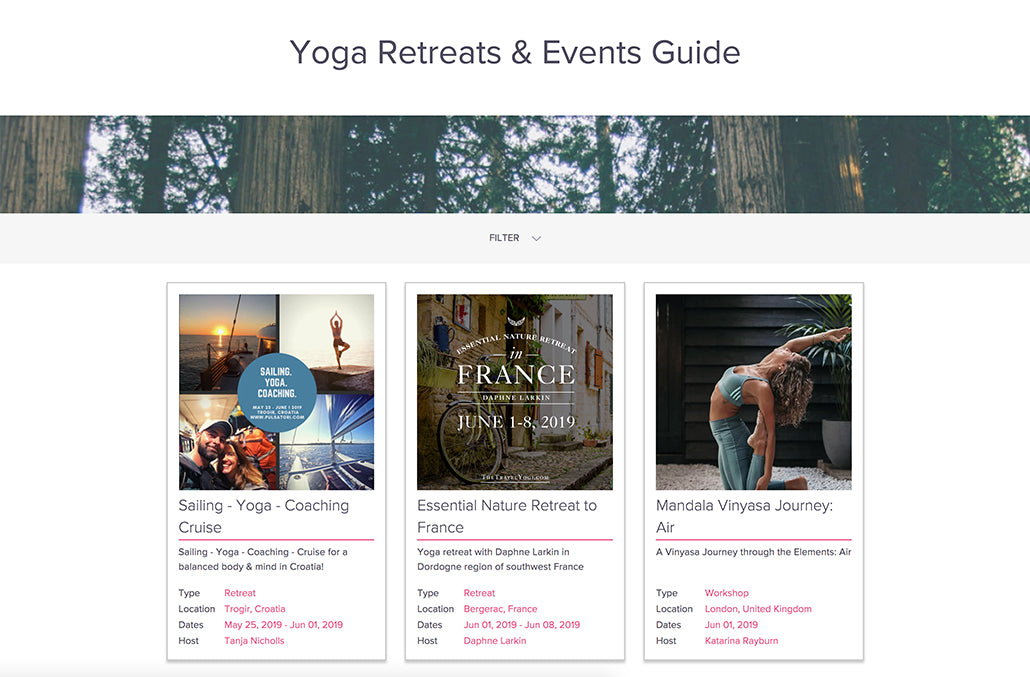 How Does our Yoga Retreats & Events Guide Work?