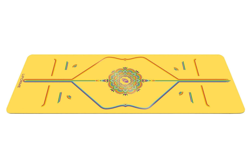 Liforme Rainbow Hope Yoga Mat - Yellow/Rainbow image 2