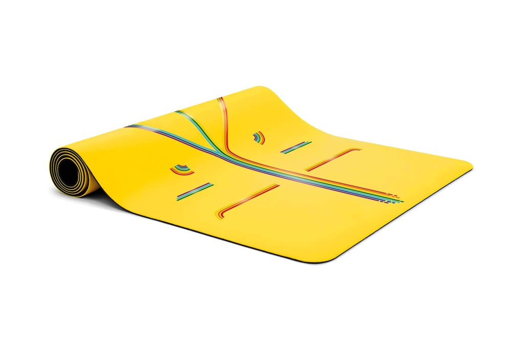 Liforme Rainbow Hope Yoga Mat - Yellow/Rainbow image 4