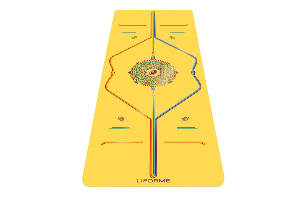 Liforme Rainbow Hope Yoga Mat - Yellow/Rainbow image 7