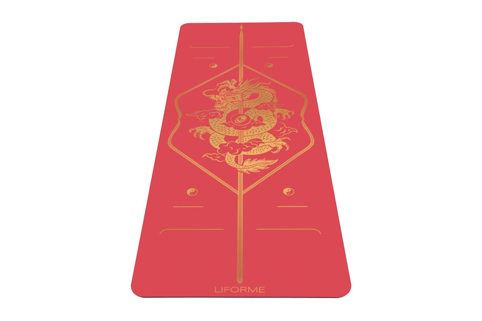 Portrait view of Dragon Yoga mat from Liforme