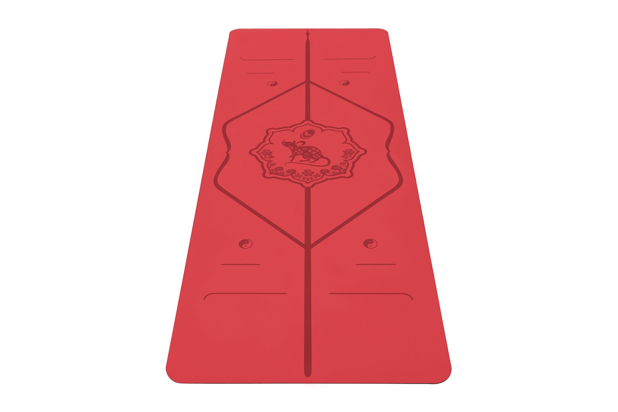 Portrait view of Year of the rat Yoga mat from Liforme