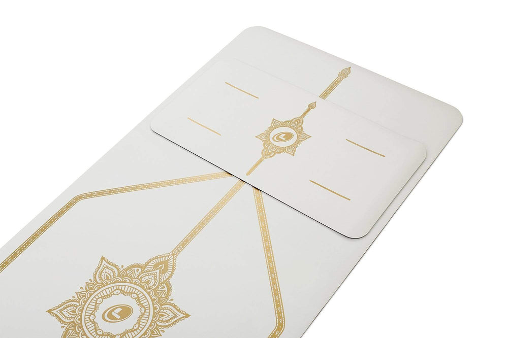 Liforme 'White Magic' Yoga Pad - White/Gold image 3