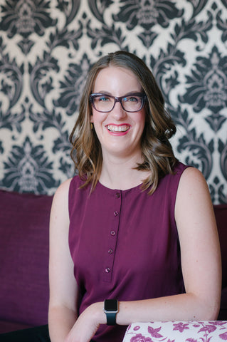 Photo of Violet Chocolate Company Vice President Marketing, Maryanne Bejcar, based in Edmonton, Alberta, Canada. Photo Credit: Ampersand Grey