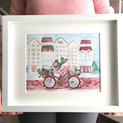 'Christmas Bike Ride' Limited Edition Print
