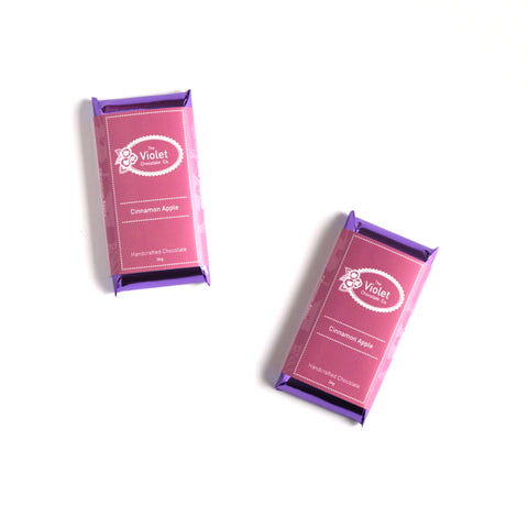 Violet Chocolate Co Fall and Winter white chocolate flavour Blackberry Sweet Corn from international award winning chocolatier Rebecca Grant based in Edmonton Alberta available across Canada