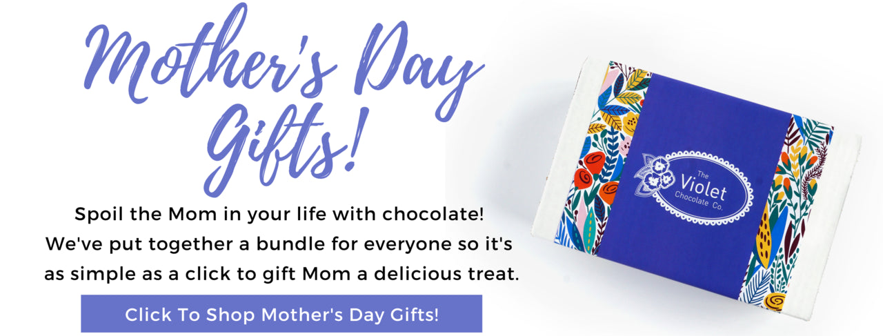 Link to shop the 2021 Valentine Collection of chocolate flavours from international award winning chocolatier chocolate shop The Violet Chocolate Co from Edmonton, Alberta, Canada offering national canada-wide shipping for Valentine, Galentine, Palentine gifts