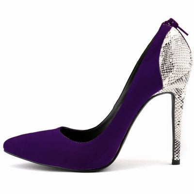 Chaussures Femme Talon De Stiletto Pointe Slip-On Low-Cut Upper Pure