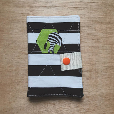 tea wallet - hexie zebra butt