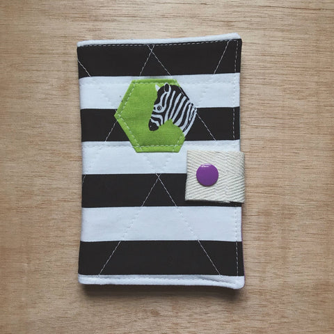 tea wallet - hexie zesty zebra