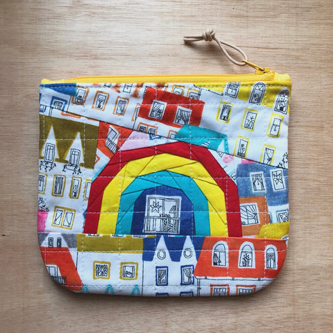 rainbow pouch - neighborhood